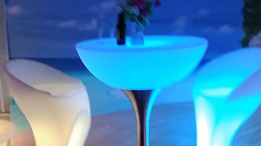 Led Bar Table Cocktail Table For Bar, Cafe, Hotel