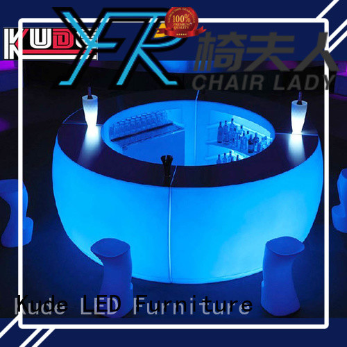 Chairlady Top plastic led bar counter factory for night club