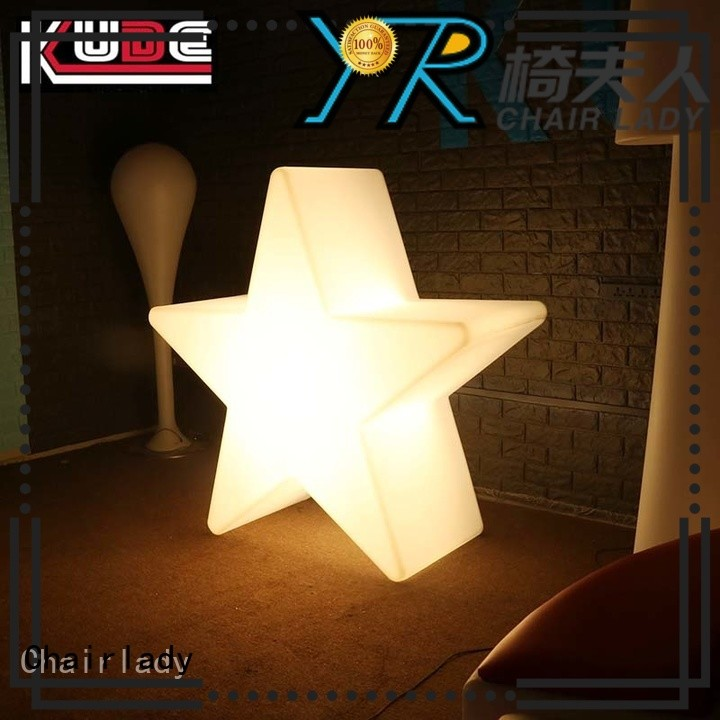 Chairlady lamp plastic led star lamp manufacturers for park