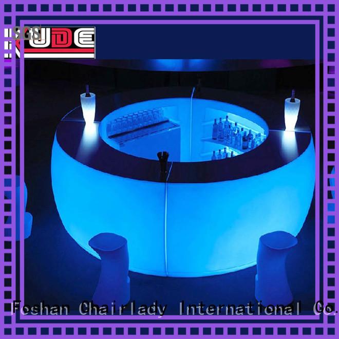 New illuminated led bar counter curved company