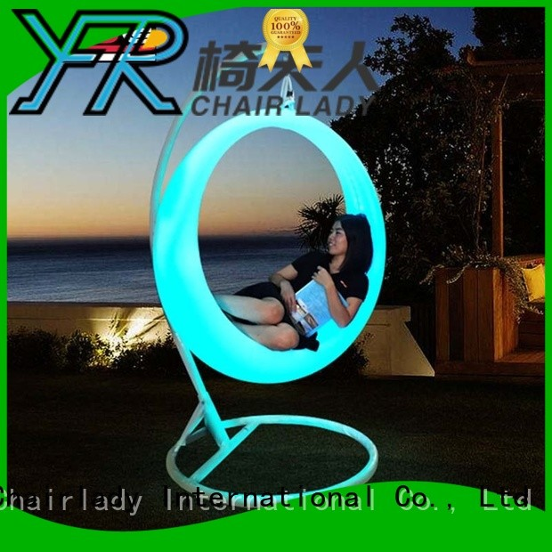 Chairlady New led garden chair factory for bar