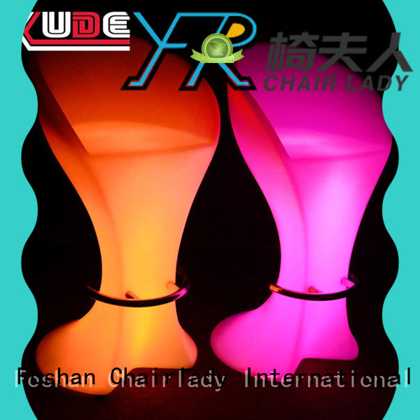 Chairlady changing led bar stools company