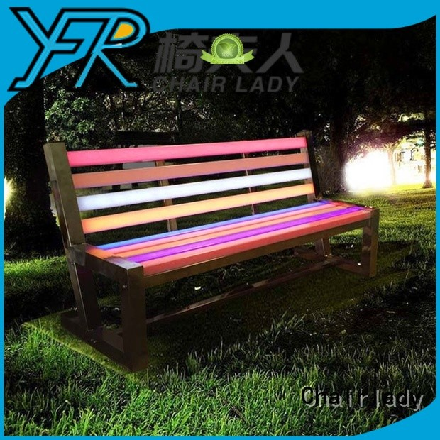 Chairlady illuminate led patio swing Suppliers for park