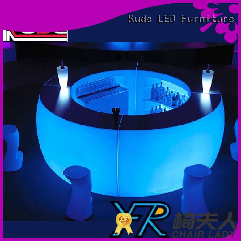 Chairlady led plastic led bar counter company