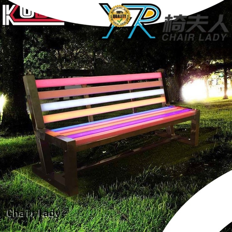 Chairlady garden led garden chair factory for bar