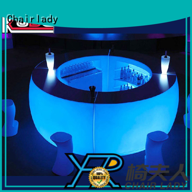 Chairlady curved led club counter for business for bar
