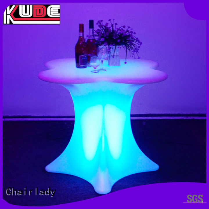 Custom led table colorful company for night club