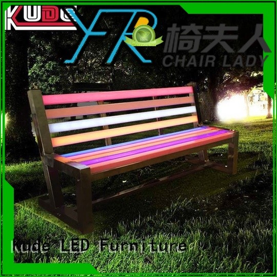 Latest led garden furniture bench Suppliers for bar
