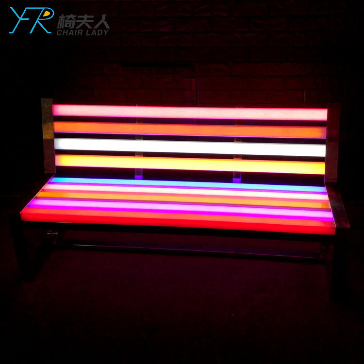 Led Flower Decoration Pe Lamps Illuminate Garden Chair