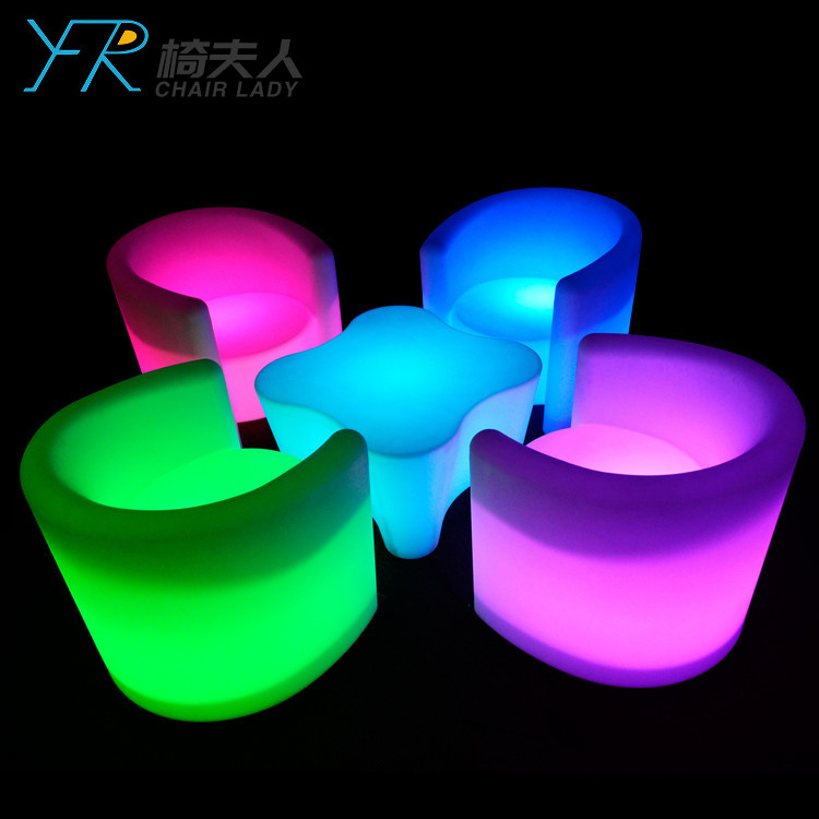 Rechargeable Color Changing Led Bar Chairs