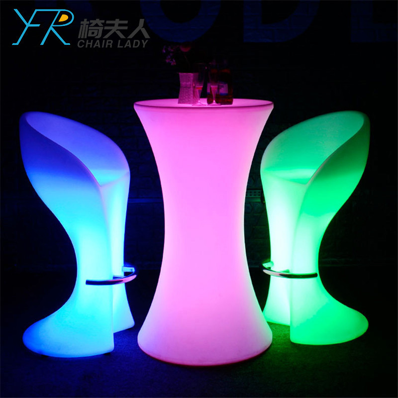 Rechargeable Color Changing Led Cocktail Bar Chair