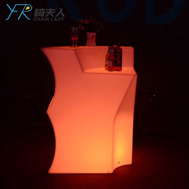 Plastic Color Changing Led Corner Bar Counter