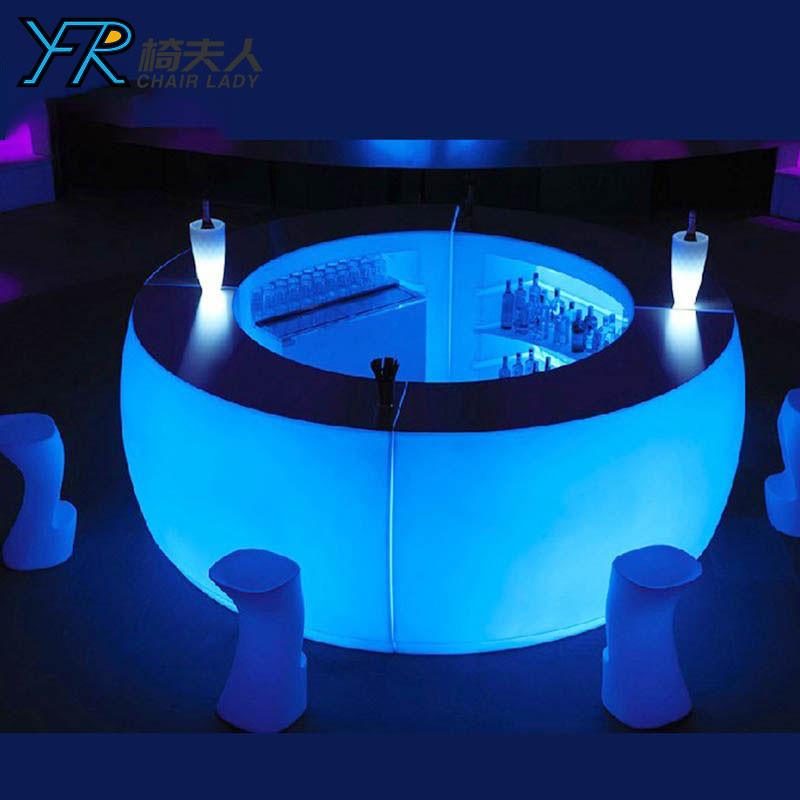 Glow Curved Illuminated  Led Bar Counter