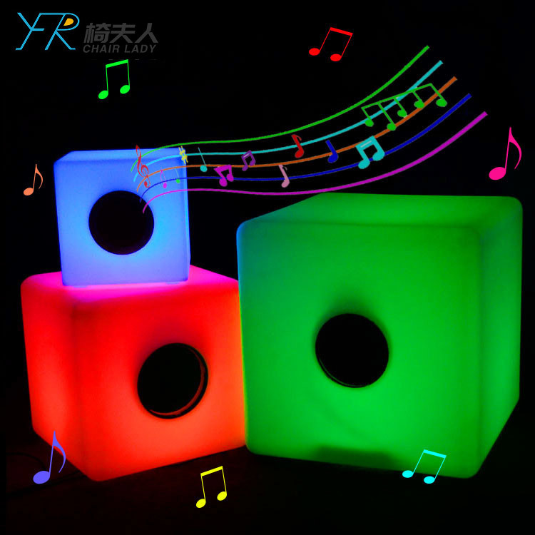 LED Illuminated Sound Sensitive Cube Bluetooth
