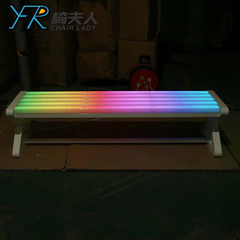Outdoor Led Decoration Illuminate  Long Bench