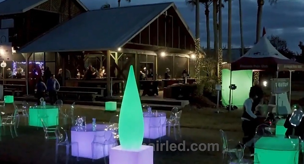 Outdoor luminous furniture